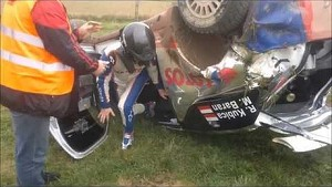 Robert Kubica crash during testing before Rally of Poland ( Rajd Polski wypadek )