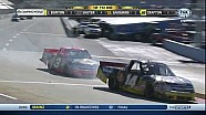 Kevin Harvick vs Ty Dillon fight crash & Harvick Interview with replays