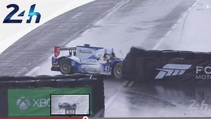 Leading LMP2 car crashes in wet conditions - Le Mans 2014