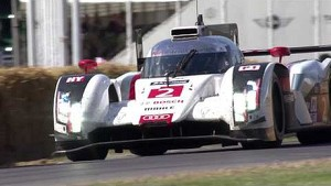 Le Mans winner hillclimb - Audi R18 e-Tron and Lotterer at Festival of Speed