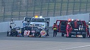 Truex suffers concussion in violent wreck