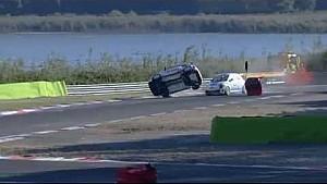 Trofeo Abarth 2014 at Enna-Pergusa, Lilja's big crash