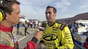 Danica Patrick vs Sam Hornish Jr. 2012 NASCAR Nationwide Talladega