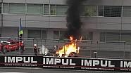 Lotus CLM P1/01 burns - 6 Hours of Fuji