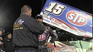 World of Outlaws STP Sprint Car Series Victory Lane from Fremont Speedway