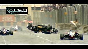 F3 Crash - 2009 Macau GP - Airborne F3