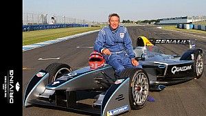 Tiff Needell's first drive in a Formula E race car