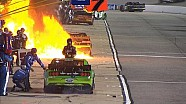 Huge Fire Engulfs Brendan Gaughan's Pit Crew - Richmond 2015 - NASCAR Sprint Cup