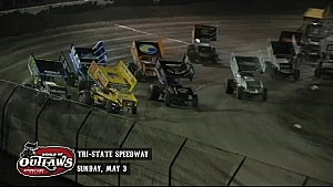 Aspectos destacados: World of Outlaws Sprint Cars Tri-State Speedway 03 de mayo 2015
