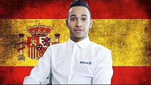 Lewis Hamilton  Gran Premio de España 2015 presentación de la carrera con Allianz