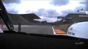 The driver of the #19 Porsche, Earl Bamber explains the Spa Francorchamps circuit, corner by corner