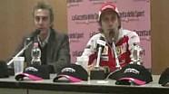 Luca Badoer saluta la Ferrari F1 al Motor Show