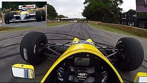 On Board : Williams FW13B à Goodwood