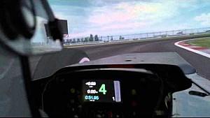 Fernando Alonso behind simulator