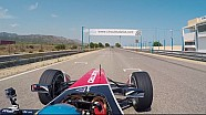 Bruno Senna drives Mahindra's season two Formula E car