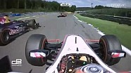 GP2 2015. Spa-Francorchamp. Daniel de Jong Horror Crash