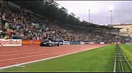 Usain Bolt Drives F1 Car around athletics track to introduce himself in style Oslo DL 2013