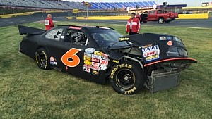 Crash at Charlotte Motor Speedway private testing
