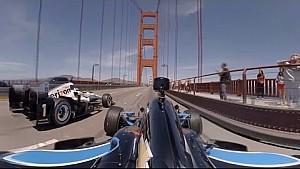 Les IndyCar sur le Golden Gate Bridge en 360°