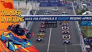 Inicio frenetico  de la Fórmula E
