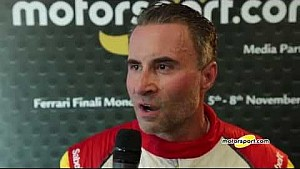 Finali Mondiali Ferrari   Podio Gara 1 Coppa Shell Nord America, le interviste