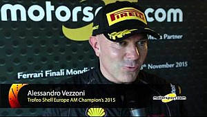 Ferrari World Finals | Alessandro Vezzoni seals 2015 Trofeo Pirelli AM title