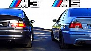 BMW M5 vs BMW M3 Sound E39 E46 Exhaust REVS revving Battle BMW Fans Schweiz