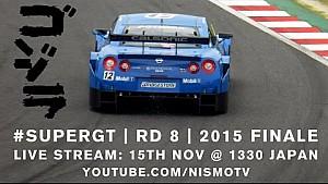 Super GT Full Race - 2015 Round 8 - MOTEGI (Japan) - English commentary (ft Radio Le Mans!)