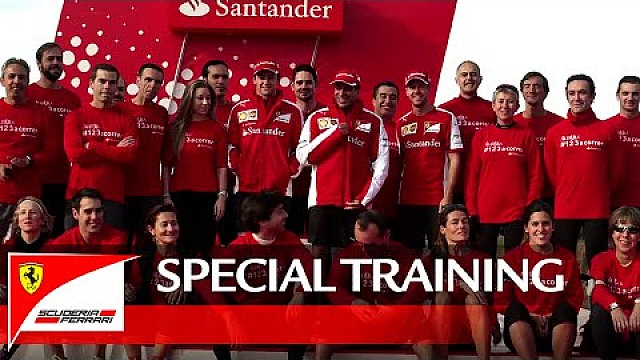 Sebastian Vettel, Marc Gené and Esteban Gutiérrez at the Santander Group City