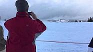 Eerste meters Max Verstappen in de sneeuw in Kitzbühel (Hahnenkamm)