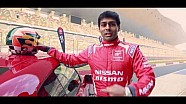 Chandhok drives the Nissan GT-R at Buddh circuit