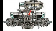 Giorgio Piola technical analysis: Mercedes W07 front suspension