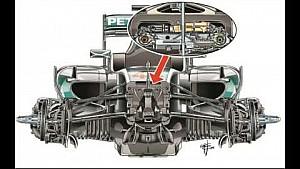 F.1 Analisi tecnica: Mercedes W07, la sospensione anteriore