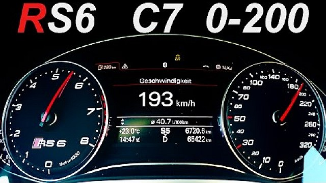 Audi RS6 Acceleration 0-200 V8 Sound Biturbo AUDI RS6 C7