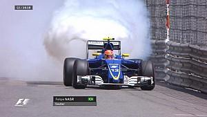 GP de Monaco - Felipe Nasr casse son moteur en qualifs