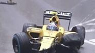 Palmer Monaco'da günün ilk kaza yapan pilot oldu