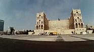 El paddock del circuito de la ciudad de Bakú