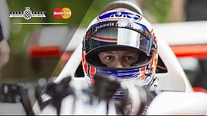 Jenson Button en Goodwood con el McLaren de Lauda