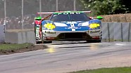 The Ford GT race car climbs the hill at Goodwood Festival of Speed
