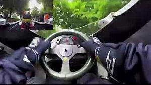 Caméra embarquée dans la Williams FW08 à Goodwood
