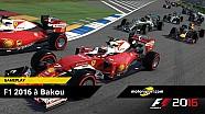 F1 2016 - Nos 15 minutes de gameplay à Bakou