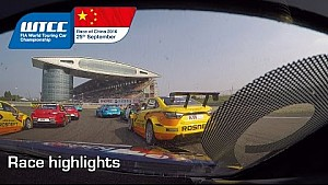 Touring car race action In China for Tom Coronel WTCC 2016 Shanghai
