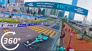 Hong Kong ePrix Race Start, 360°! - Formula E
