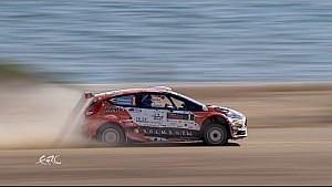 FIA ERC - CNP Asfalistiki Cyprus Rally 2016 - Lukyanuk on SS14 with datas