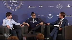 Stroll and Buemi discuss their championship seasons and F1 2017 at FIA Prize Giving