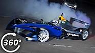 ¡Paseo a bordo del coche de Fórmula E haciendo Donuts en 360 º!