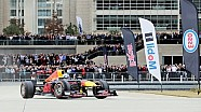 Daniel Ricciardo geeft F1-demo in Houston