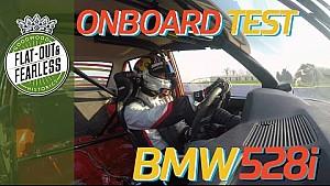 On board a 1982 BMW 528i