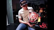 Max Verstappen reveals his new 2017 helmet! 21/02/2017