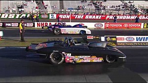 Ed Olpin took home the Wally in Super Gas at the Winternats